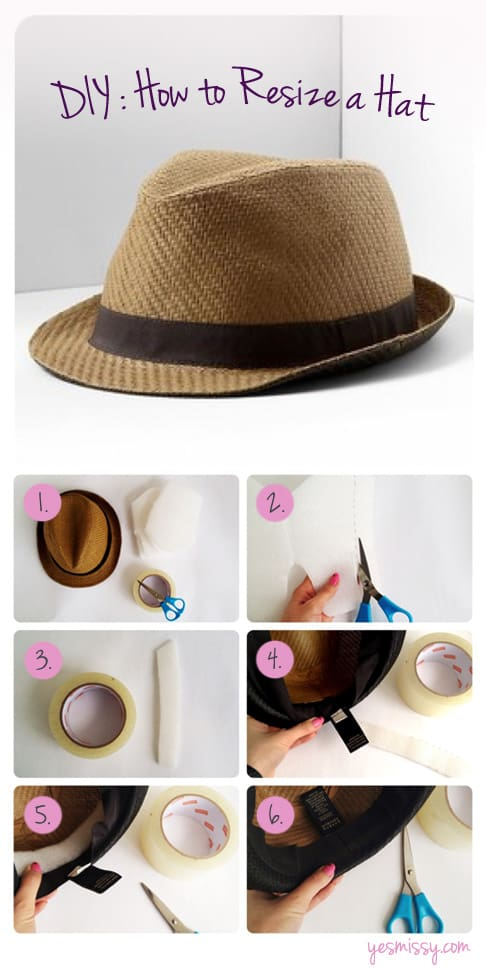 DIY: How to Resize a Hat