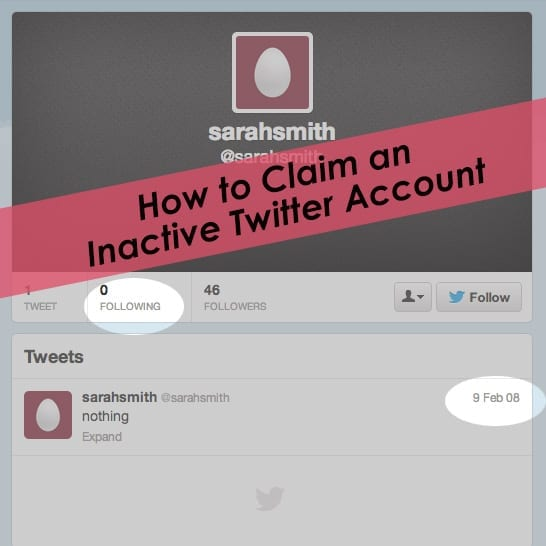 How to Claim an Inactive Twitter Username