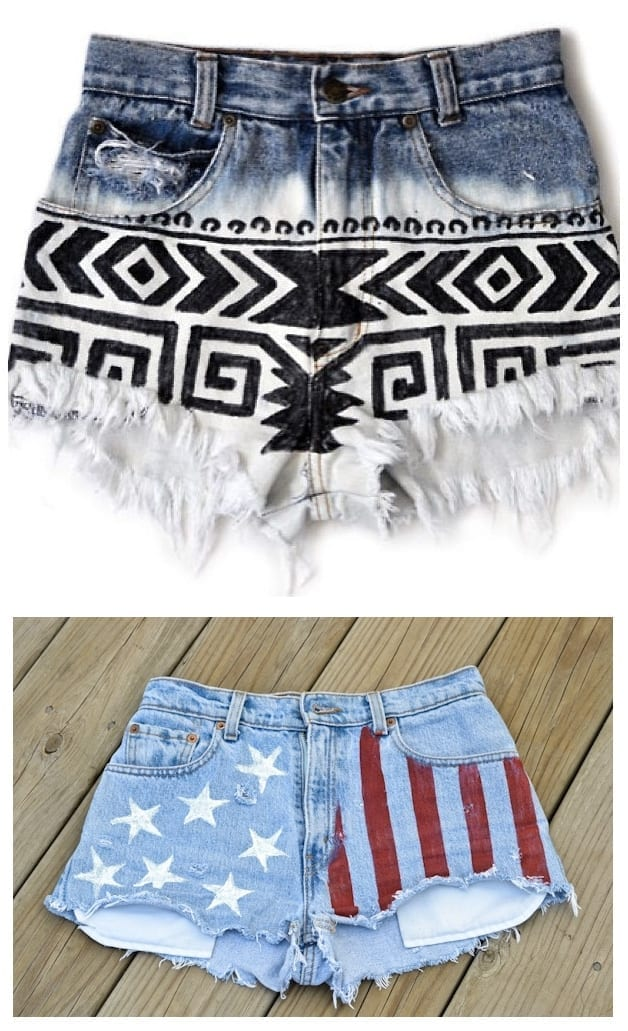 DIY Sharpie Fashion - DIY your denim shorts and give them a makeover