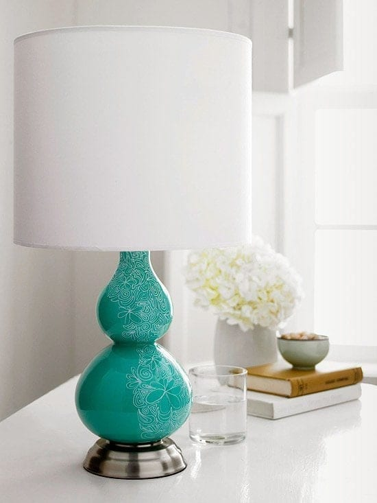 Decorate your home with a DIY sharpie doodle lamp