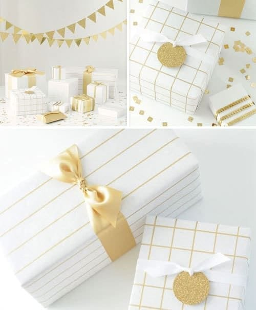 DIY Gift Ideas - make your present extra special with some handmade wrapping paper with a Sharpie