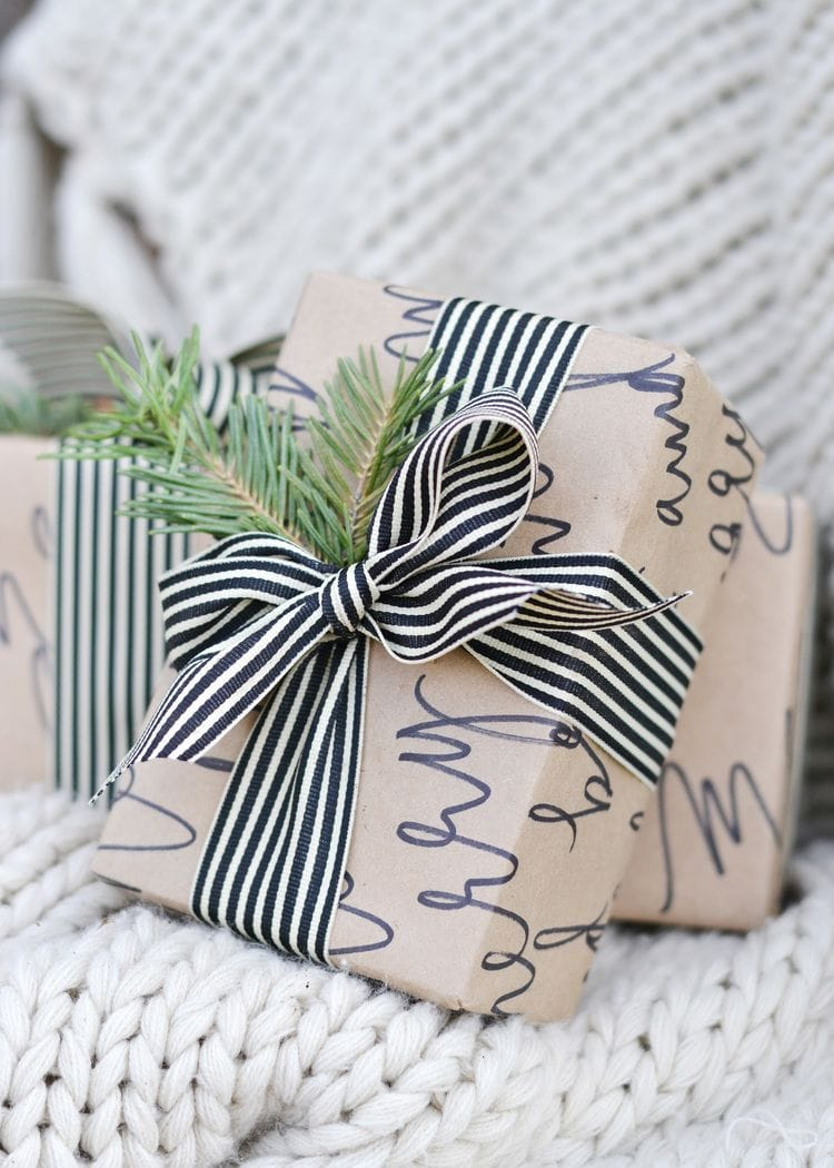 DIY gift wrap - use a Sharpie to doodle some fun gift wrap and make that present extra special