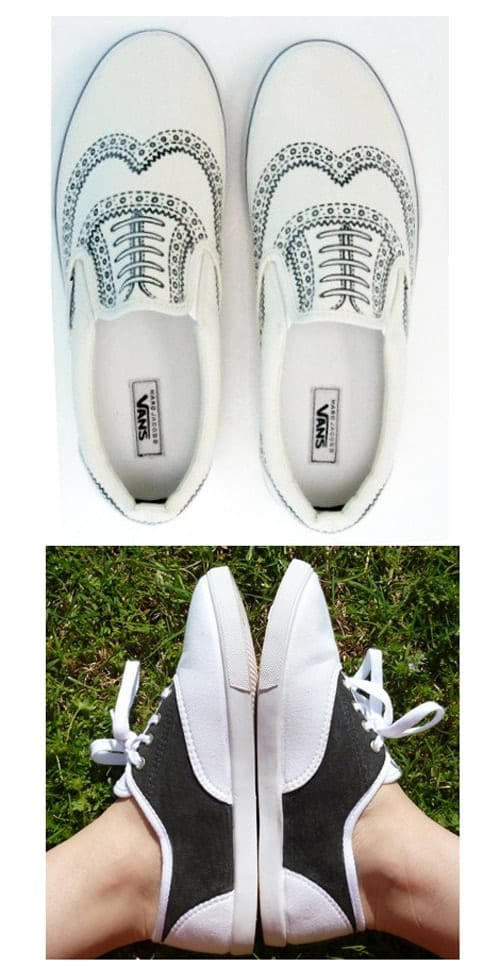 Get creative with your shoes and personalize them with some DIY Sharpie art