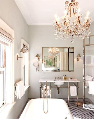 Elevate your bathroom with bathroom chandeliers - home decor ideas for your  bathroom by yesmissy.com