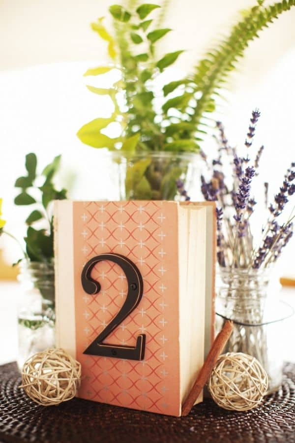 Creative Centerpieces - DIY Book Table Numbers