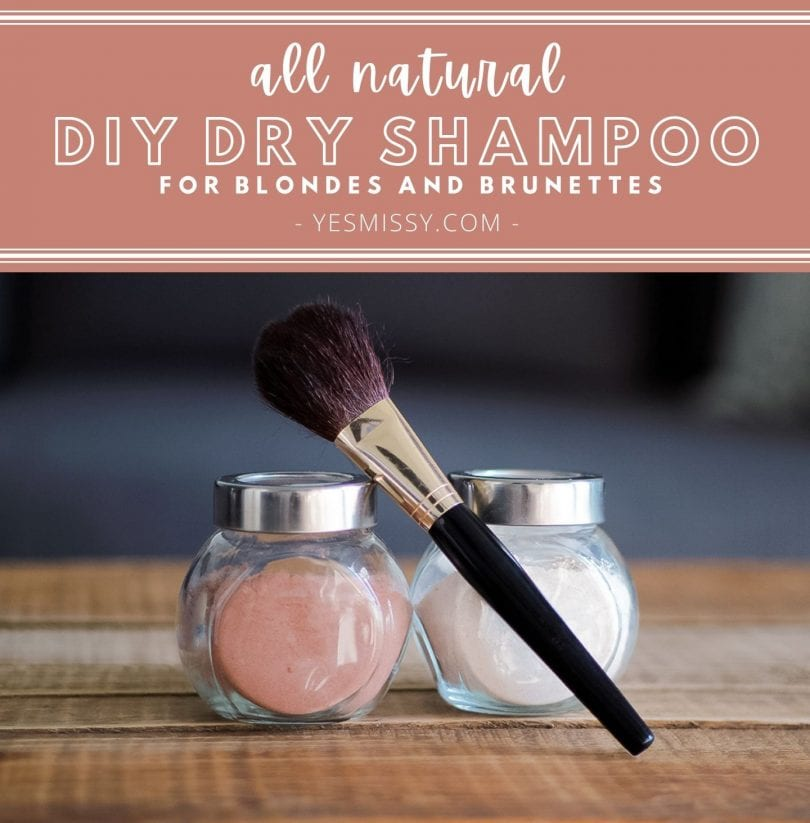 Make your own all-natural DIY Dry Shampoo Recipes for Light and Dark Hair - made from ingredients you already have in your kitchen!
