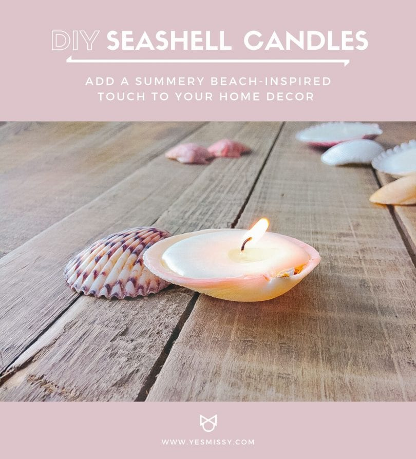 Add a summery touch to your home with these easy DIY seashell candles! Easy to make and takes only 15 minutes!