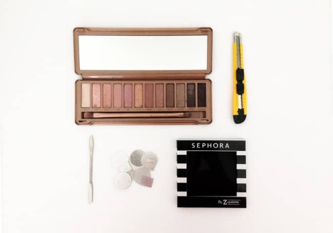 How to depot eyeshadows and organize them with Z palettes