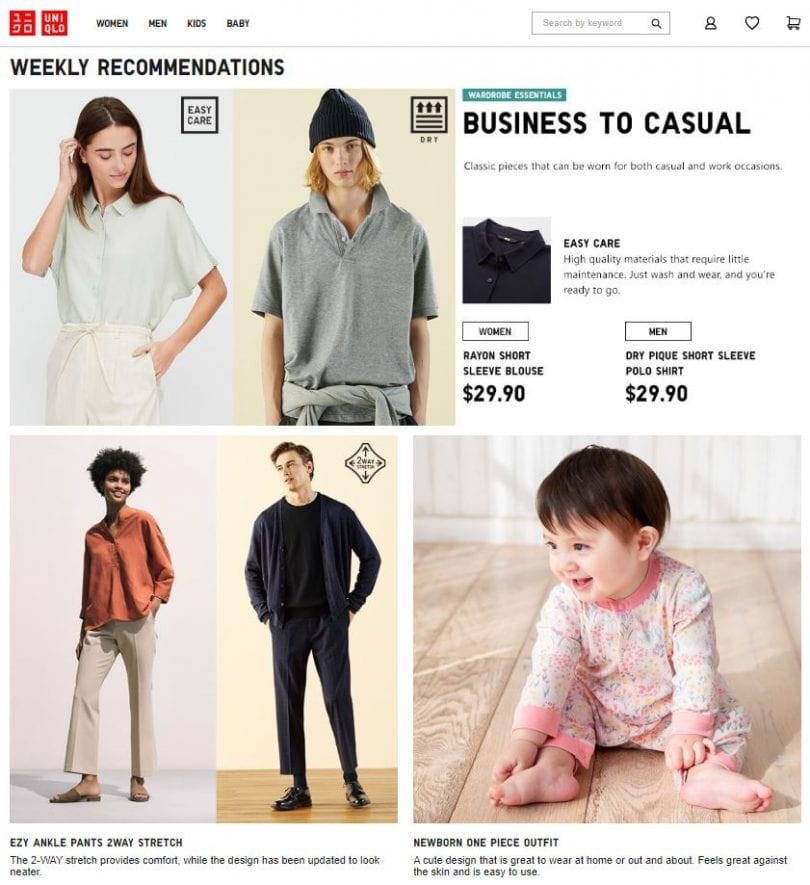 UNIQLO sell affordable clothing basics for women, men and children that is good for daily wear