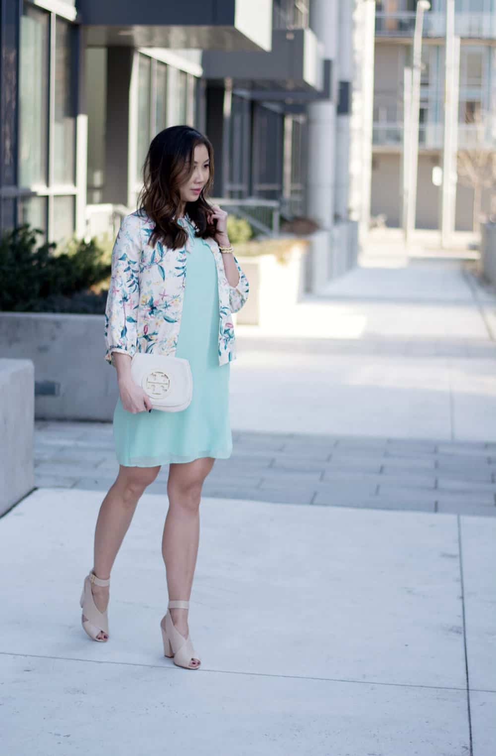 Summer lookbook: Spring dress and floral bomber from LC Lauren Conrad Dress Up Shop