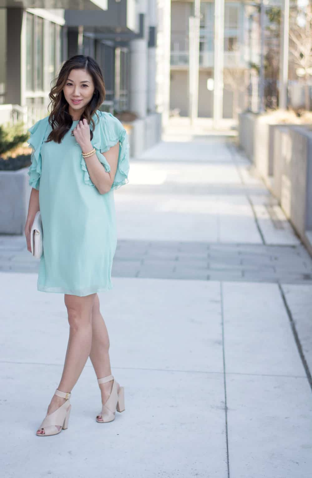 Summer lookbook: chiffon dress and floral bomber from LC Lauren Conrad Dress Up Shop