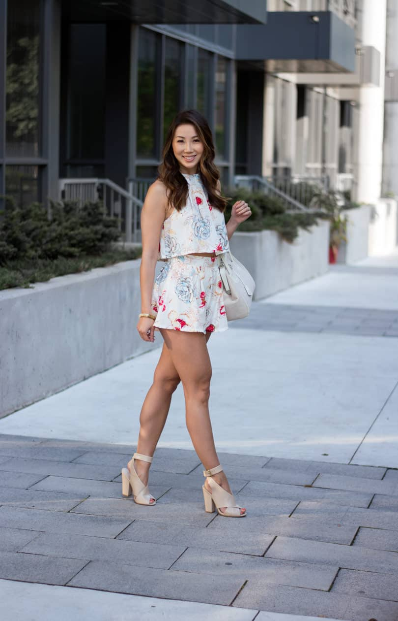 Loving floral prints this season. This cut 2 piece set is from Shein