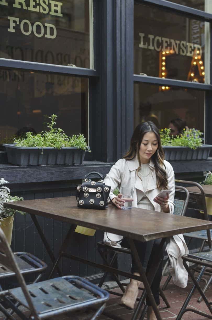 Cute cafes in Gastown Vancouver. #Streetstyle #fbloggers