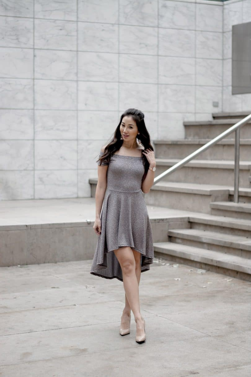 I could see this dress with heels, or with black over-the-knee boots, dressed up or down for all sorts of holiday occasions.