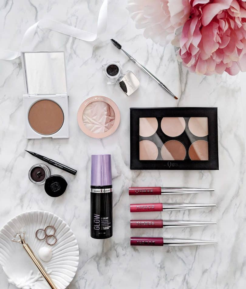 Makeup favorites from Clinique, Shiseido, Hard Candy, Quo Cosmetics, Clove + Hallow, Plume and more
