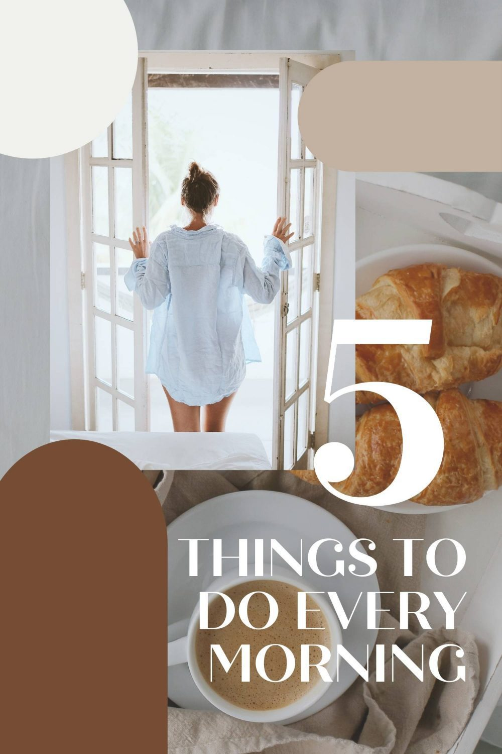 Having good morning habits will set the tone for your day and help you be more productive and focused. Try adding these  5 easy habits to improve your day!