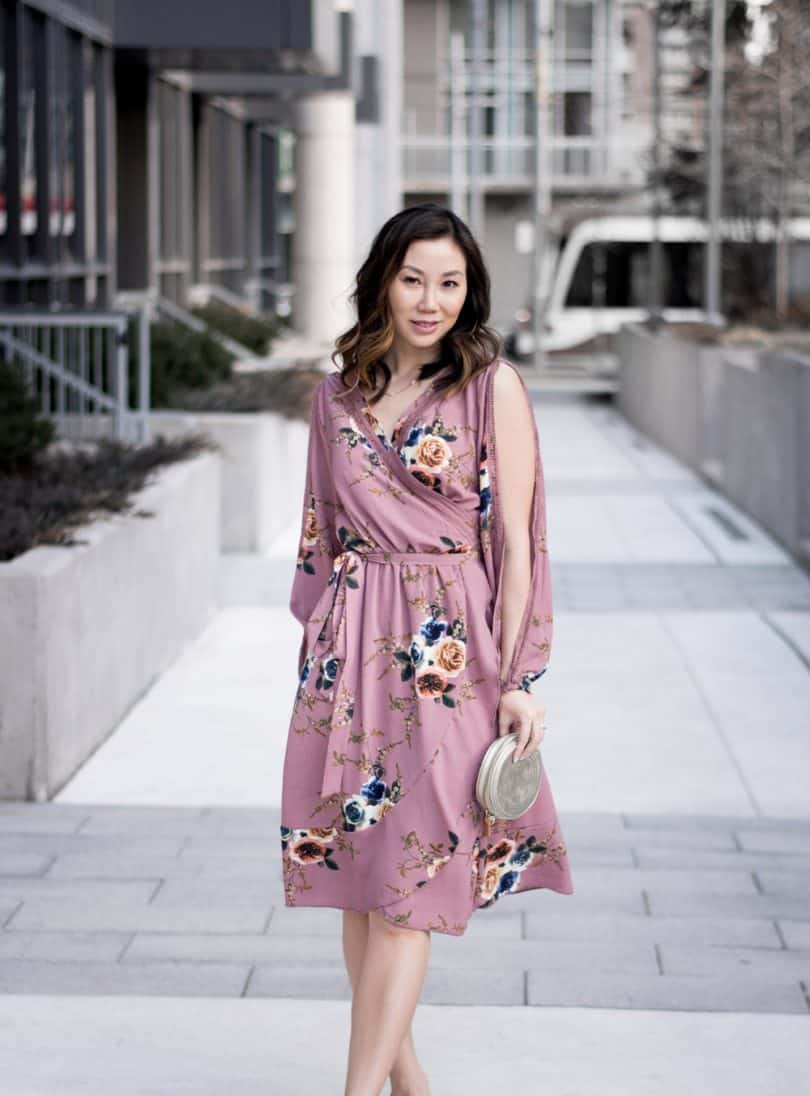 OOTD: spring floral dress from Boohoo