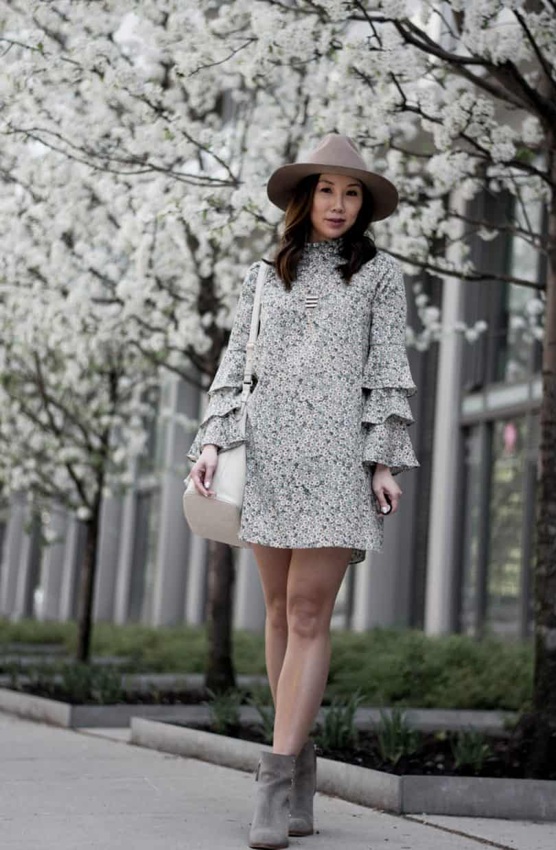 Floral dresses with ankle boots #ootd #fblogger #styleblogger