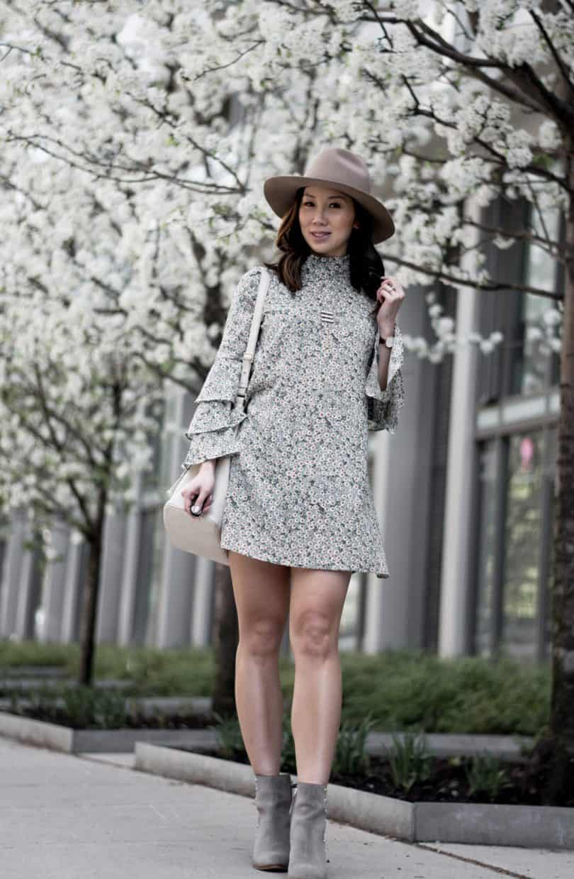 Spring/Summer floral look #fashionblogger #streetstyle #floraldress