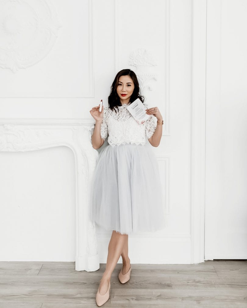 OOTD: Lace top with tulle skirt - fashion blogger YesMissy