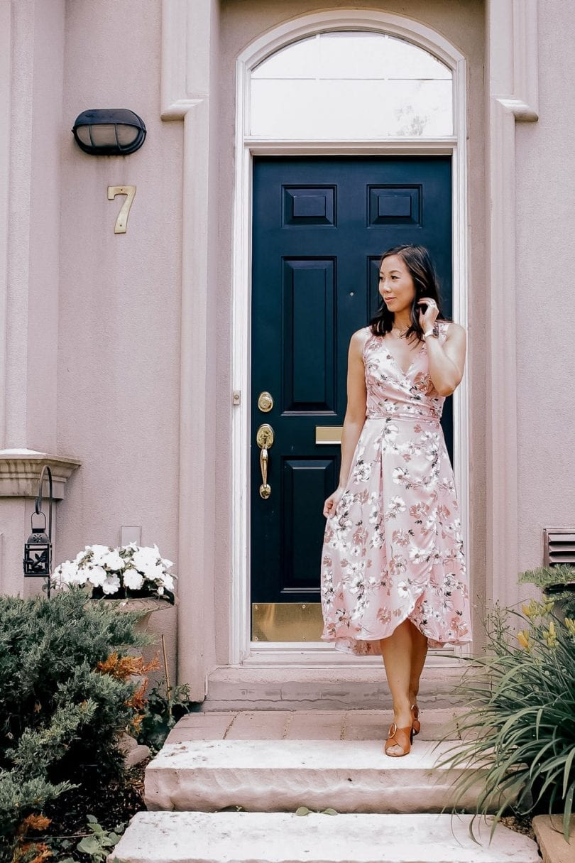 Summer outfit - pink floral dress #OOTD YesMissy