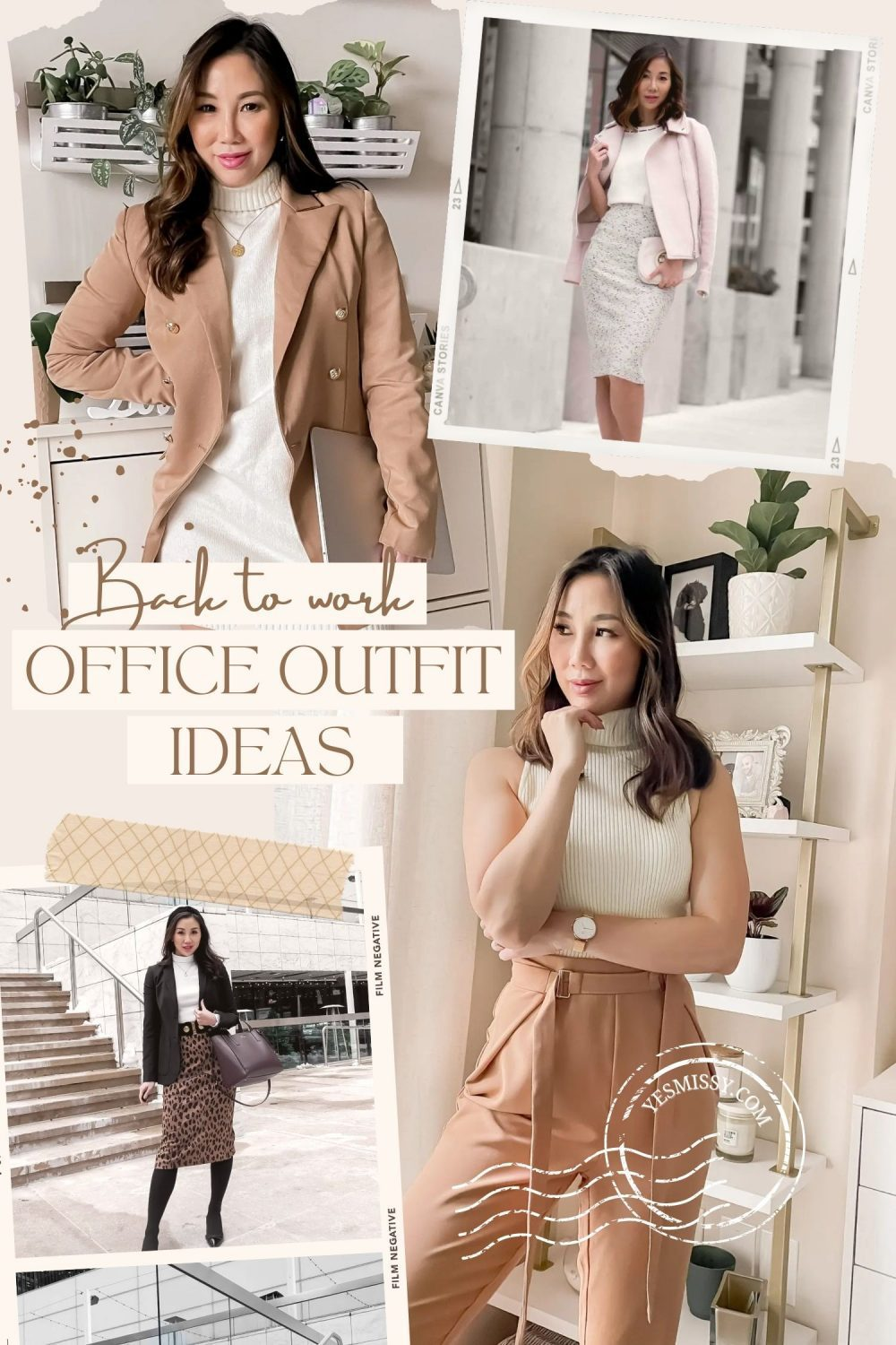 Back to the office? Here are some office outfit ideas to help you get dressed in the morning. Visit my blog yesmissy.com for fall and winter workwear looks, day to night dresses, and the latest trends.