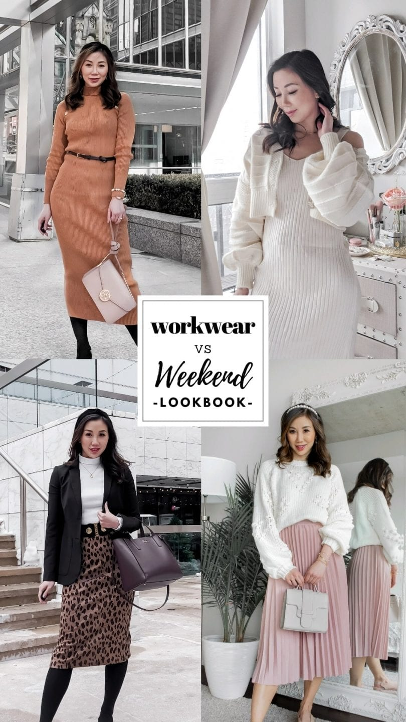 Workwear vs Weekend Lookbook - Outfits for office and casual outfits by lifestyle blogger Eileen Lazazzera of YesMissy