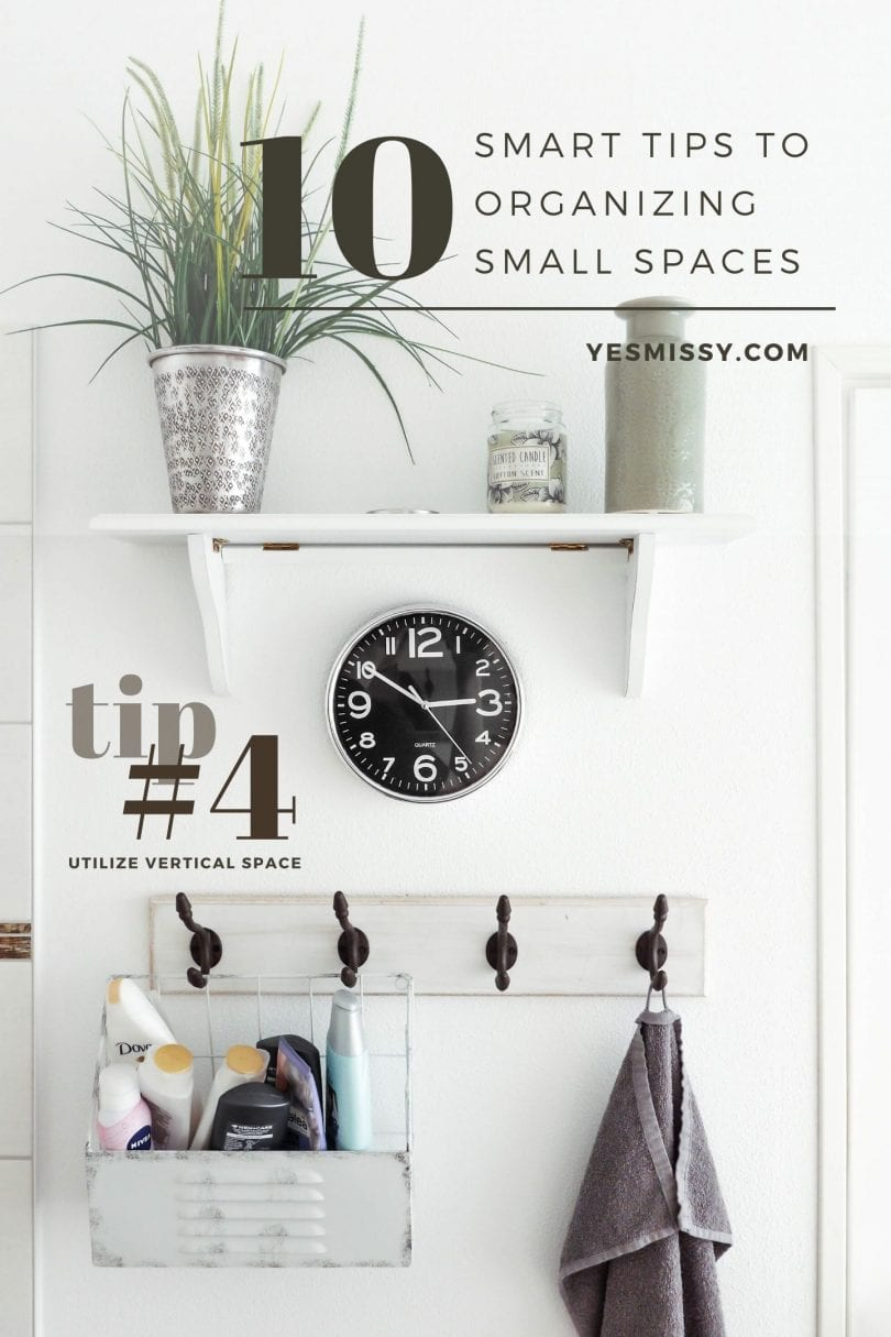 10 tip for storage in small spaces - Check out these organizing tips and hacks on yesmissy.com