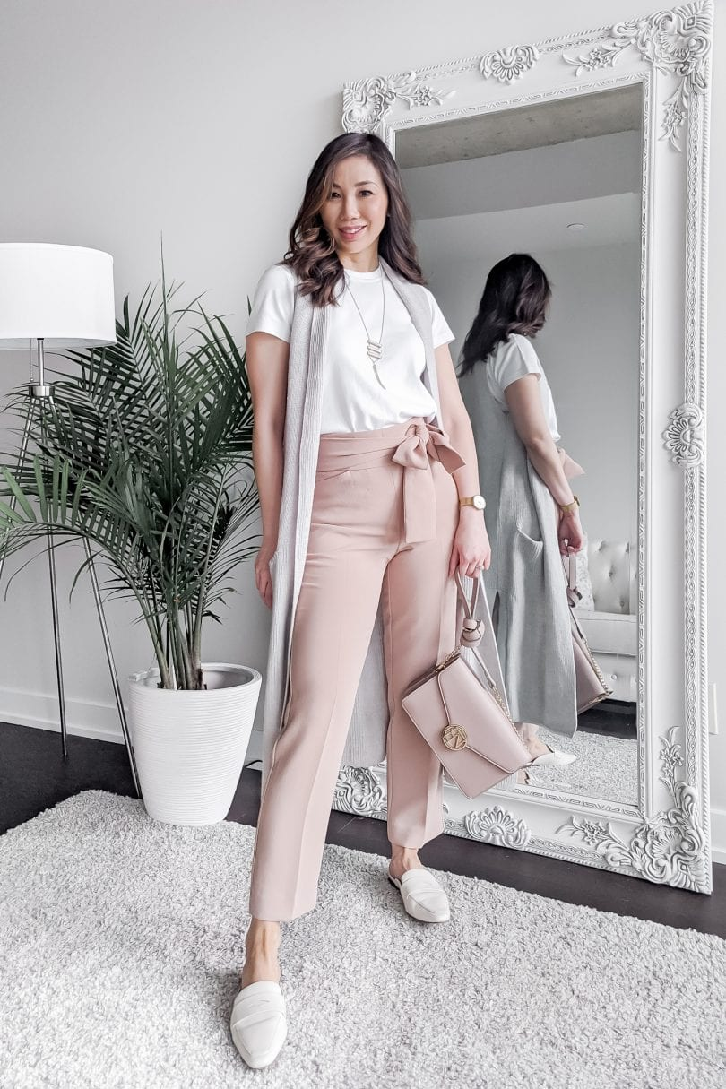 how to wear a white tee shirt 5 ways - styled by Eileen Lazazzera of YesMissy