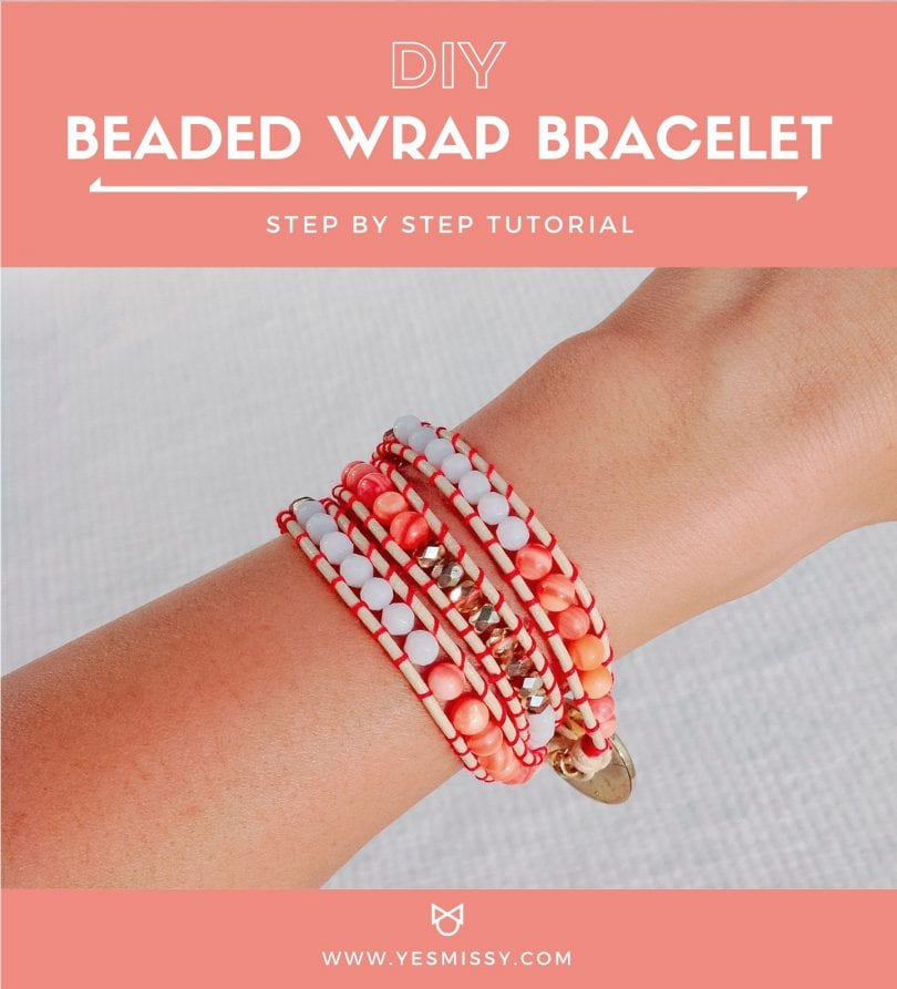 An easy DIY tutorial on how to make Chan Luu style bracelets with leather cord, beans and thread.
