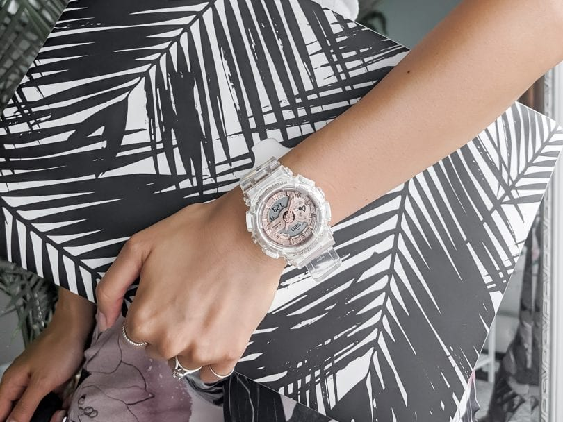 Watch Review: Casio G-Shock Watch for Women, Transparent x Rose Gold Collection
