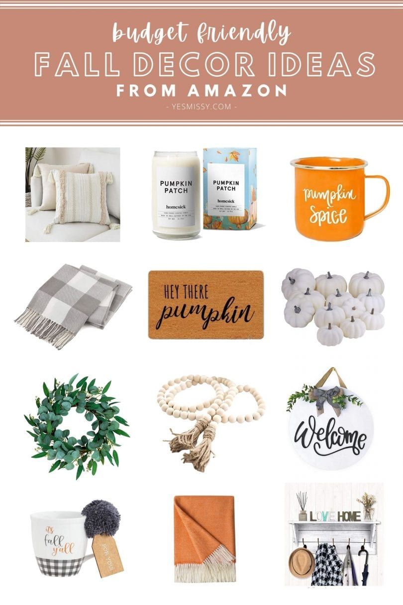 Budget friendly fall decor ideas to help you get ready for the season of pumpkin spice and everything nice! Shop these cozy pillows, throws, candles and more!