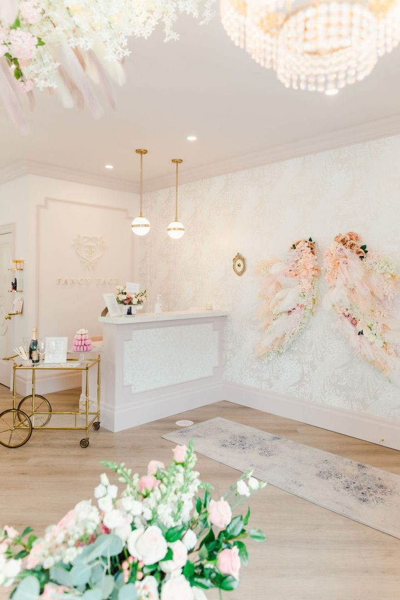 The Paris inspired interiors of the Fancy Face Rosé Room