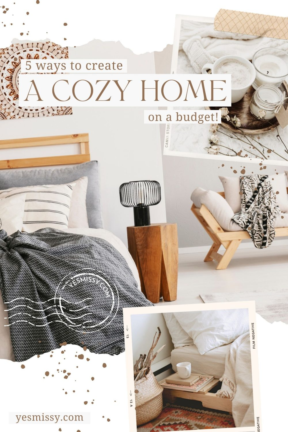 Home decor tips for fall and winter to make your home more cozy. Visit my lifestyle blog yesmissy.com for more home decor ideas, easy home hacks and DIY ideas to decorate your home.