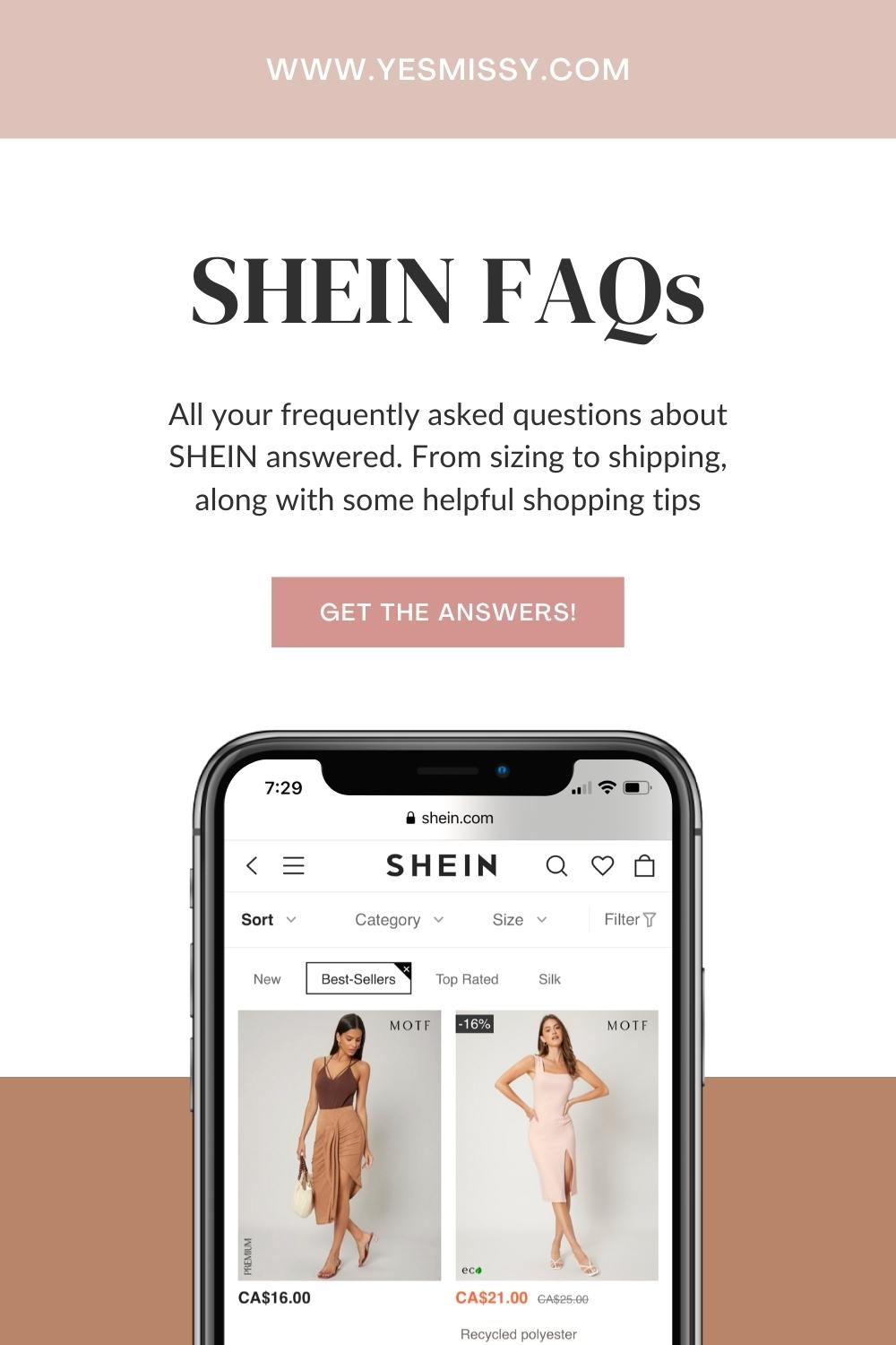 The answers to all your frequently asked questions about SHEIN - Is Shein legit? Is Shein good quality? Shein reviews and more...