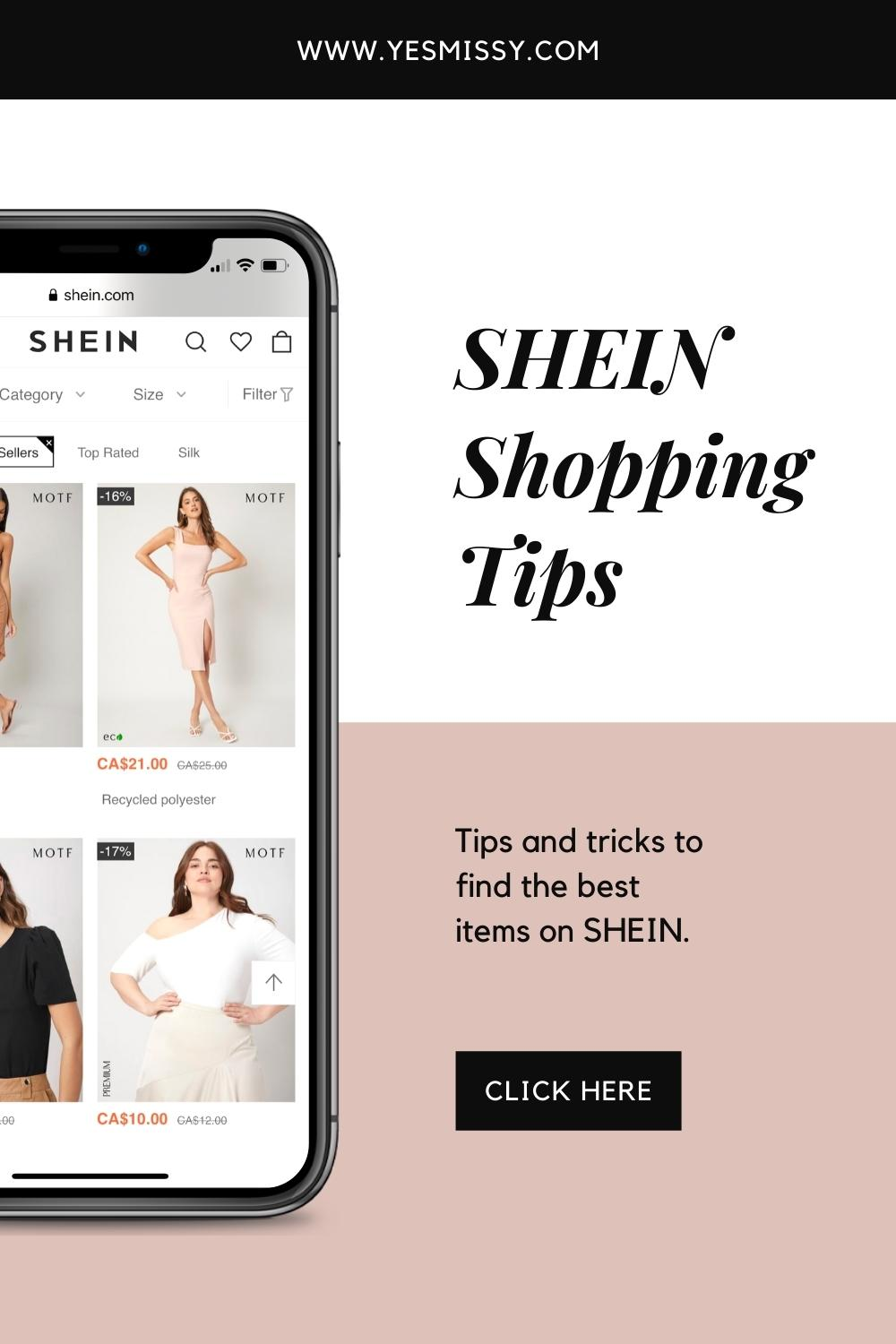 Tips for shopping at SHEIN.com to find the right size, quality pieces and SHEIN coupon codes!