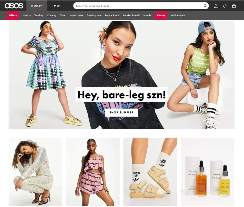 If you're looking for affordable and stylish clothing, ASOS is a great place to shop online. It's a websites like SHEIN for trendy stylish clothes that won't break the bank!