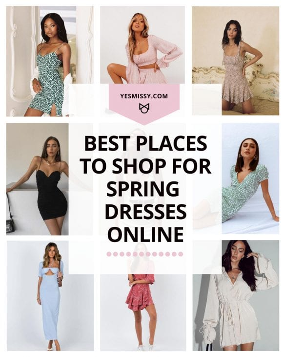 A round up of the best places to shop for spring dresses online. Floral dresses, mini dresses, maxi dresses, or special occasion dresses, you're sure to find the spring dress you love at one of these websites!