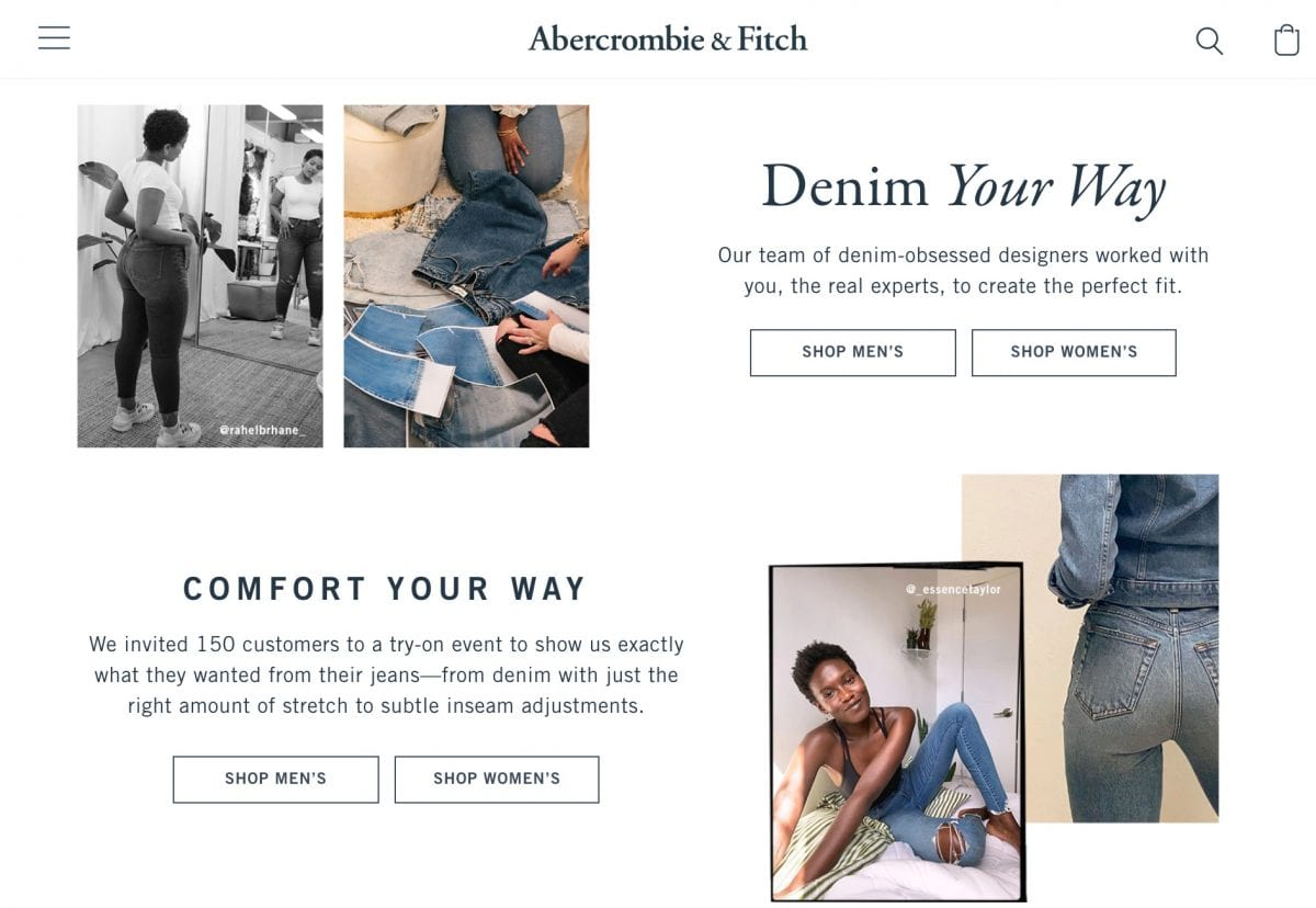 Best places to buy jeans - Abercrombie is great for fairly priced, well made jeans that suit all different body types from curvy to petite, tall and regular!