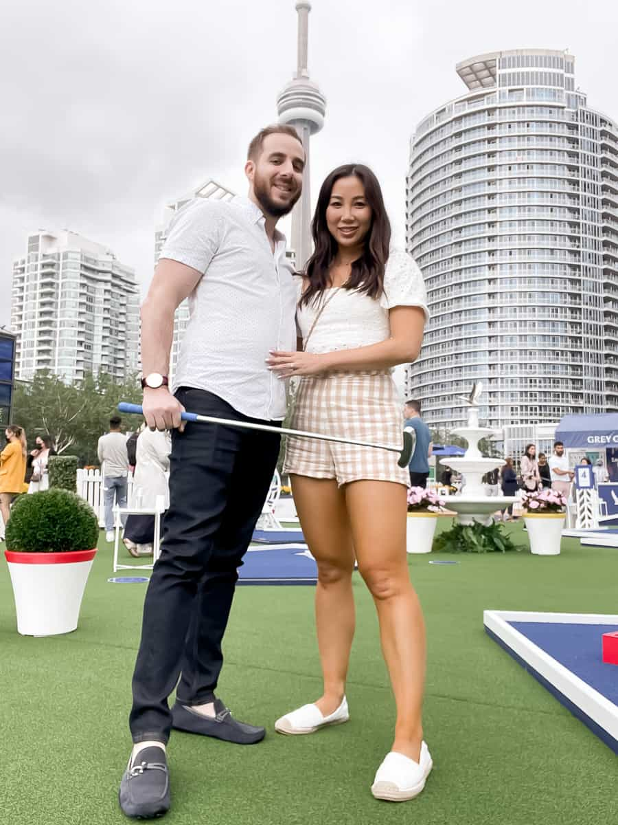 Summer Events: The Smooth Putt with Grey Goose - Mini golf with the hubby!