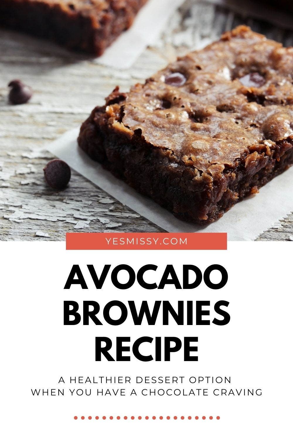 Easy & delicious, these avocado brownies are the perfect treat when you want something healthy and tasty! Get the full recipe on yesmissy.com