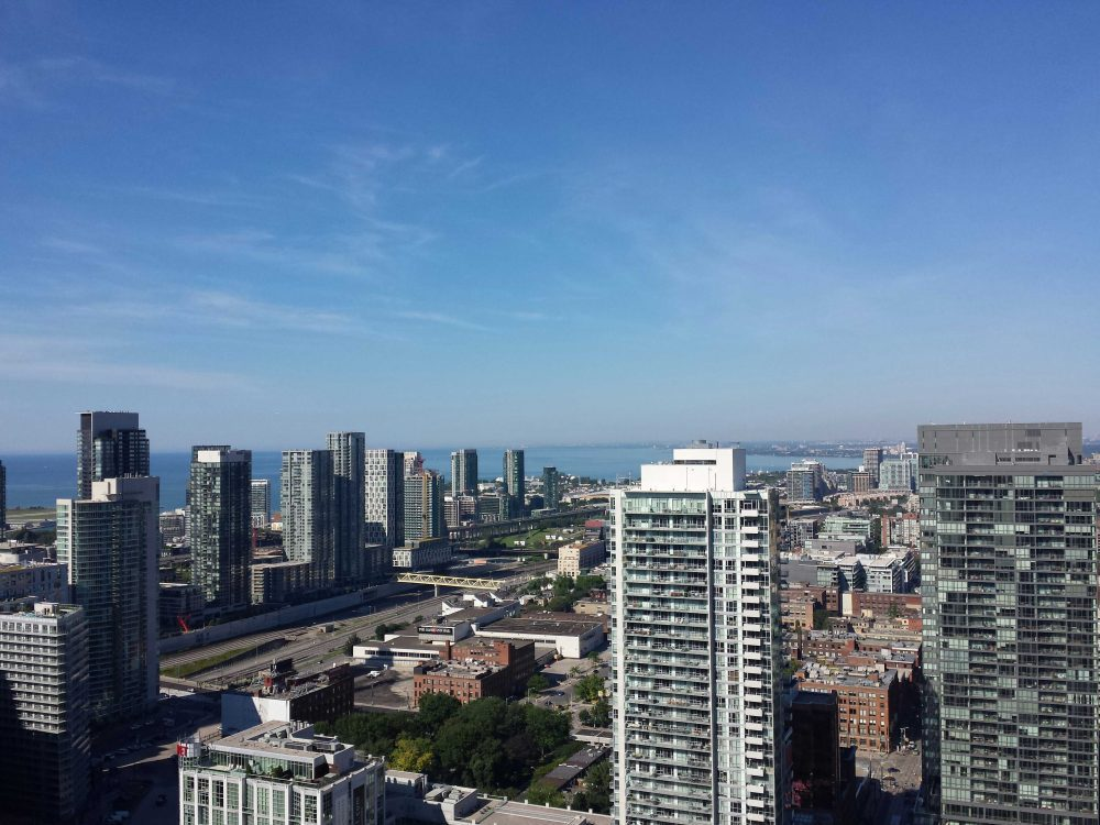 View in downtown Toronto