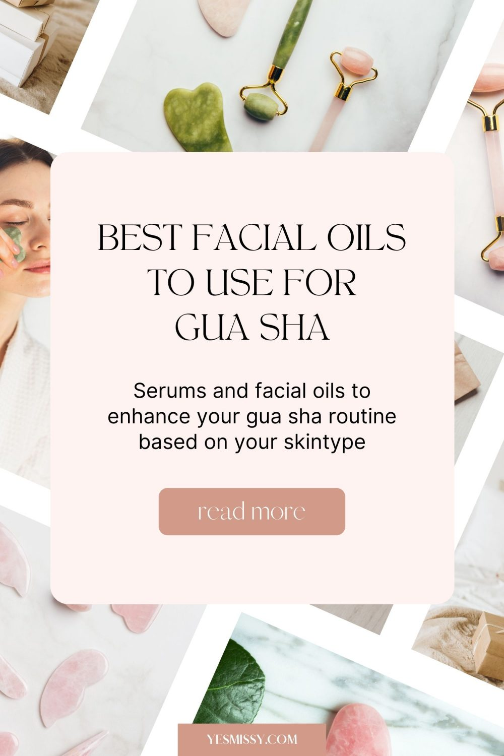 When it comes to gua sha, the best facial oils are typically lightweight, non comedogenic, and will provide nourishment to you skin. Learn more about it on yesmissy.com