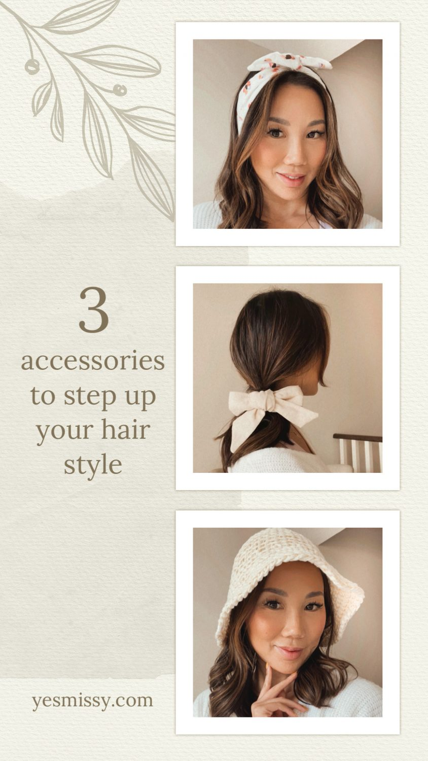Bored with your hair? here are 3 accessories to step up your hair style. More on yesmissy.com