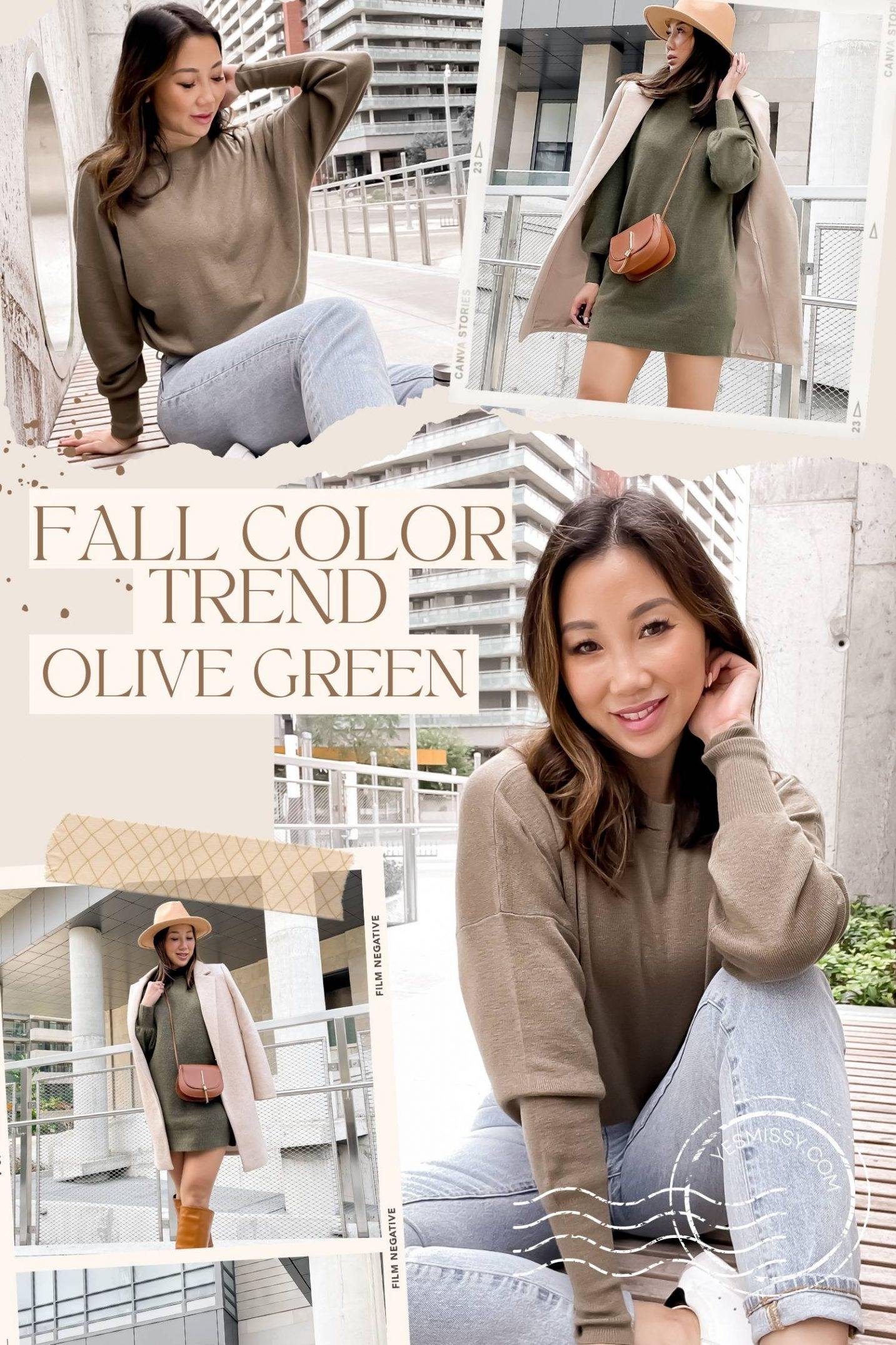 Olive green is a color I can't get enough of! This fall color trend works as almost a neutral and matches with everything in your wardrobe.
