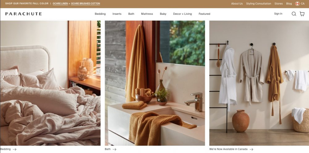 Parachute makes premium home goods that are made well and accessibly priced.