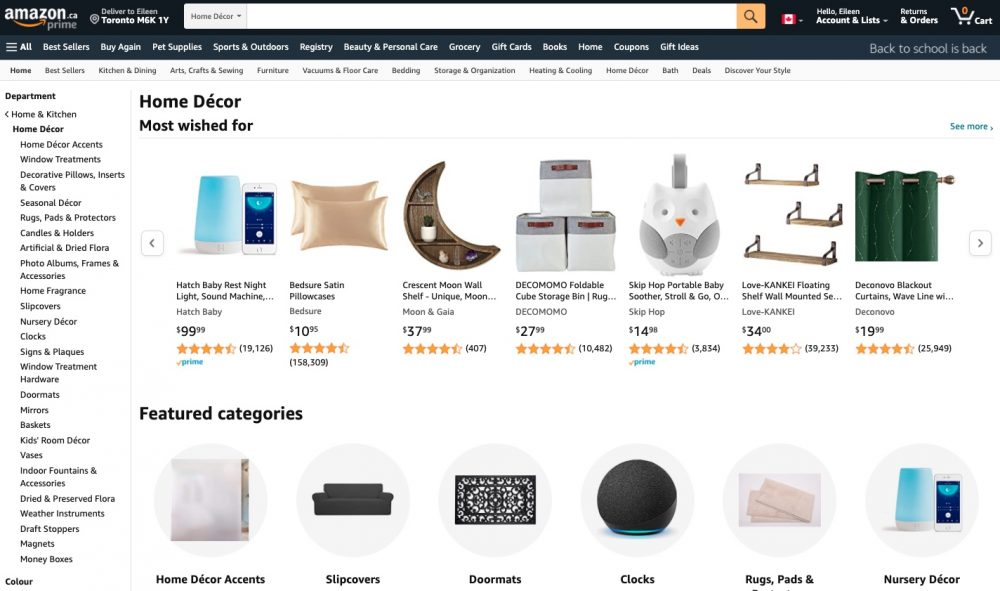 Amazon has everything including furniture and home decor accents. Just make sure you read the reviews!