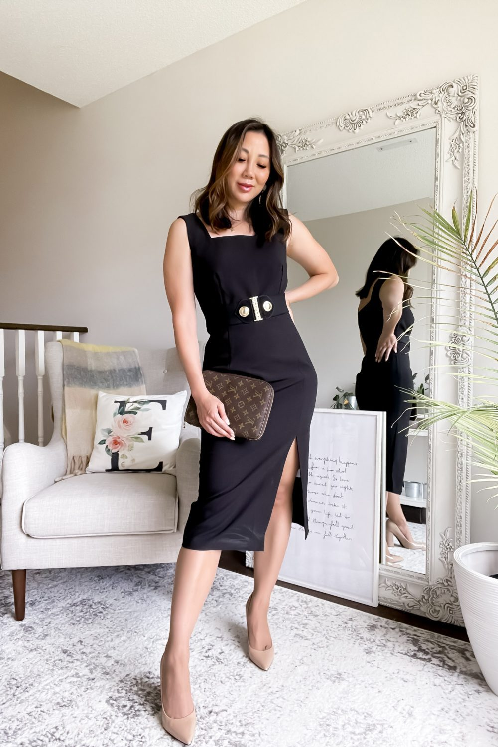 Classy date night look with little black dress from MOTF collection worn by YesMissy.