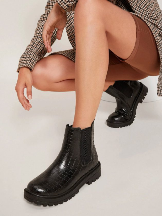 Fall Wardrobe Essentials - boots are a must for the fall season. The lug sole boot is a great option for adding that street style edge to your wardrobe.
