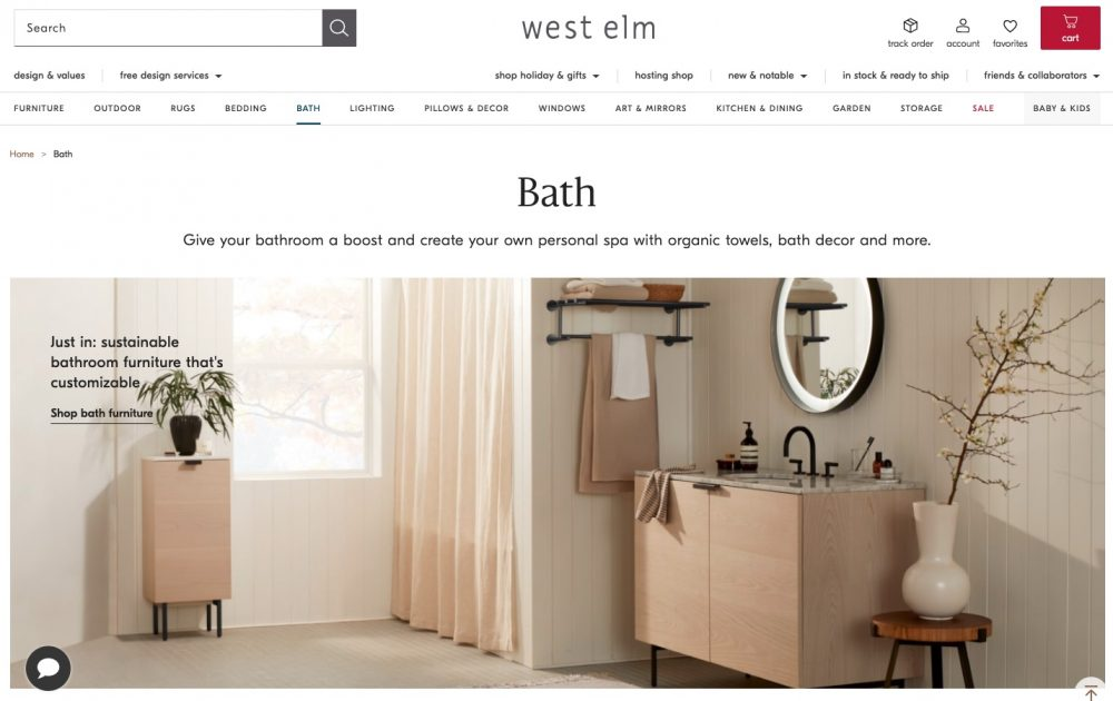 West Elm is a mid-century modern furniture store. Like Pottery Barn they carry quality furniture and home goods.
